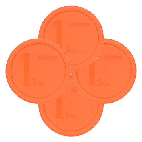 Buy Pyrex 323-PC 1.5qt Round Orange Storage Lid for Glass Bowl (4 Pack) dispense