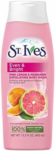 St. Ives Even and Bright Body Wash, Pink Lemon and Mandarin Orange 13.5 oz