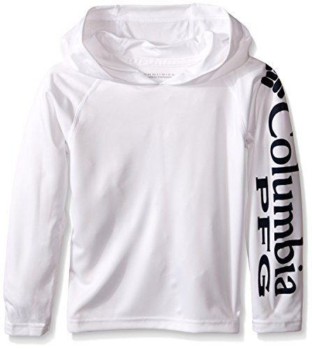 Columbia Terminal Youth Tackle Hoodie, White, Small