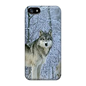New Snow Wolves Tpu Case Cover, Anti-scratch WzSrFfg1626ERTXY Phone Case For Iphone 5/5s