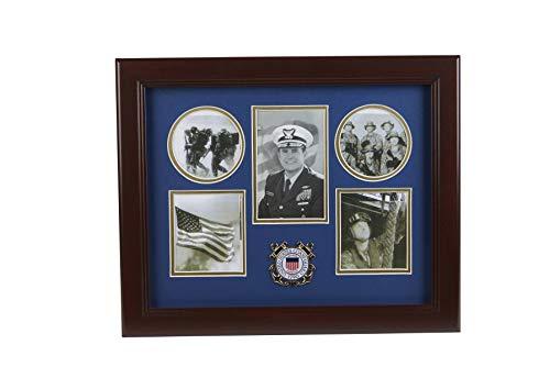 Coast Guard Photo Frame - Allied Frame US Coast Guard Medallion 5 Picture Collage Frame