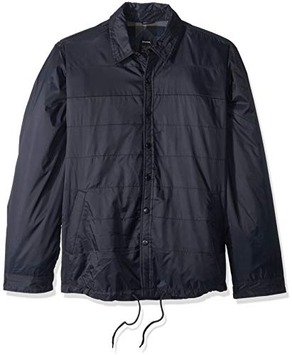 Dickies Men's Modern Fit Nylon Shirt Jacket, Dark Navy, L