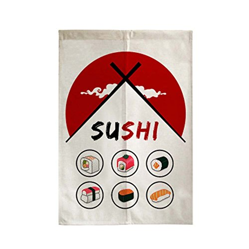 George Jimmy Delicate Door Curtain Japanese Restaurant Kitchen Curtain Hotel Sushi Bar Decoration, 01 by George Jimmy (Image #2)