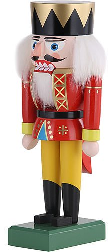 German Christmas Nutcracker King - 19 cm - Authentic German Erzgebirge Nutcrackers - KWO