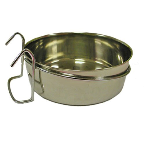TDISC Stainless Steel Coop Cup with Wire Hanger 10oz by (Feeder Clip)