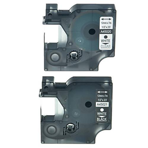 (FidgetGear Label Tape for DYMO D1 LabelPoint 100 200 300 Printer 12mm 1/2