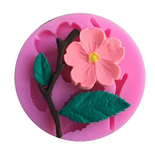 Slendima 2.20'' x 0.39'' Silicone Peach Blossom DIY Fondant Cake Mold Kitchen Decorating Baking Tool by Slendima (Image #2)