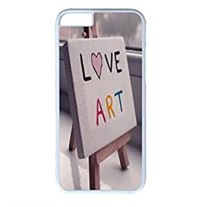 Sweet Love Customized Design White PC Case for Iphone 6 Love Art