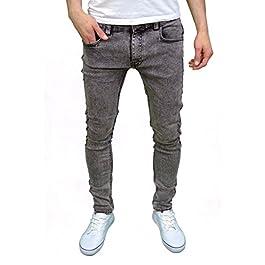 Soulstar Mens Boys Skinny Stretch Acid Snow Wash Jeans