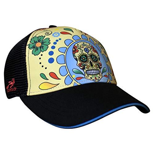 (Headsweats Performance Trucker Hat, Fiesta Sugar Skull, One Size)