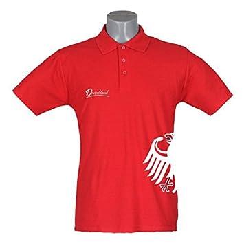 DEU polo de colour rojo para hombre águilaconstellation lateral ...
