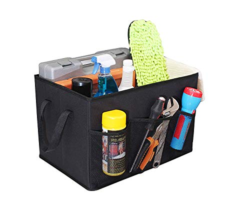 For Sale! ITIDY Trunk-Organizer,Foldable Cargo Storage Bin Box for Car/Van/SUV/RV, with Handles and Non Slip Secure Prevent Sliding, Black