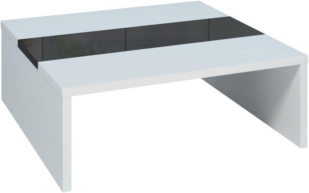 Populair En Goedkoop Berlioz Creations MUFFINI salontafel, houtwerk Hedendaagse 87 x 87 x 33 cm Chêne Cendré Wit/Zwart T5gW7V7