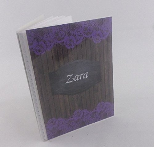 Wedding photo album . 374. personalized bridal shower gift, purple lace . Engagement, Anniversary