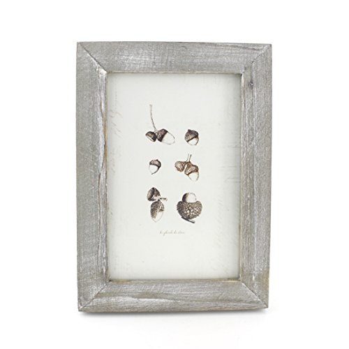 4x6 Inches Simple Rectangular Desktop Family Picture Photo Frame with Glass Front (Grey)