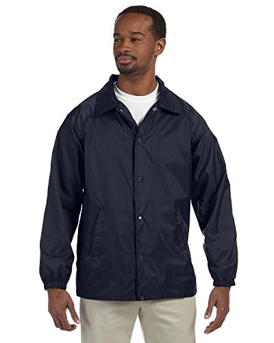 Harriton Men's Raglan Sleeves Nylon Staff Jacket