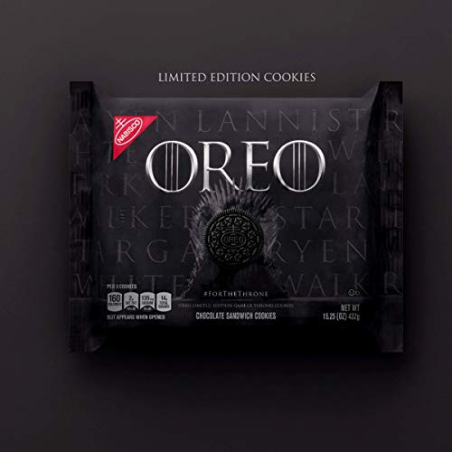 (OREO Limited Edition Game of Thrones Themed Classic Chocolate Sandwich Cookies (15.25 oz.)