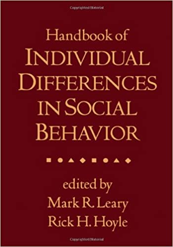 Handbook of Individual Differences in Social Behavior
