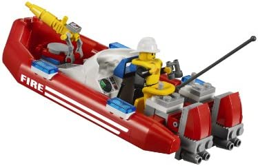 LEGO - 7213 - Jeu de Construction - LEGO City - Le Camion Tout-terrain et le Bateau des Pompiers