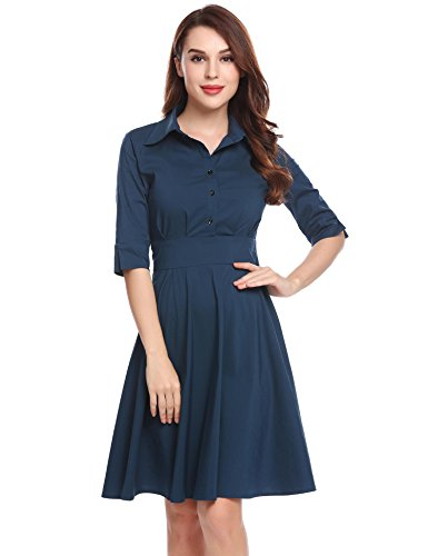40s shirtwaist dress - 6