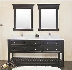 Amazon.com: Double sink Bathroom vanity, 60 inches solid ...