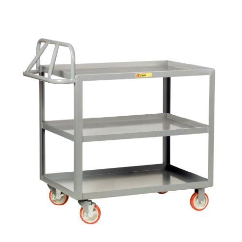 - Little Giant 3ERLGL-2448-BRK Ergonomic Shelf Truck with Lip Edge, 1200 lbs Capacity, 48