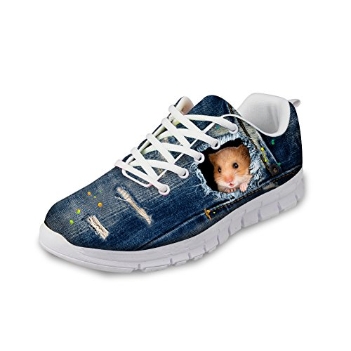 Sneakers Cute Women's Hamster Running Eyes Comfort HUGS Cat IDEA Pattern Casual Shoes xPqnI0X