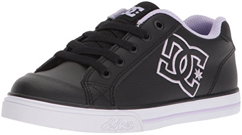 ate Shoe, Black/Lavender, 2.5 M US Little Kid (Dc Girls Shoes)