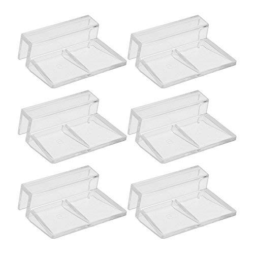 Glass Acrylic Aquariums - BCP 6pcs Clear Color Acrylic Aquarium Fish Tank Glass Cover Clip Support Holder,6mm