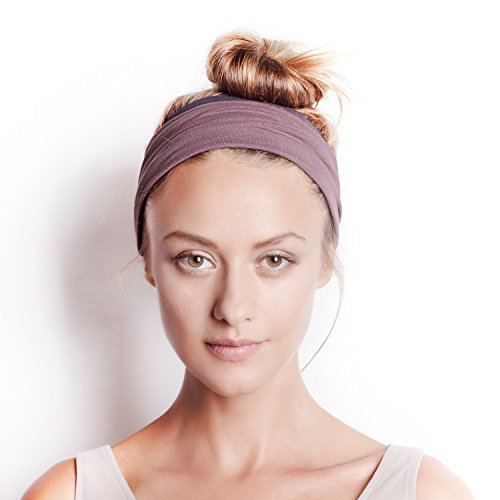 Wood Helmet (The Original BLOM. Patent Pending Headband for Sports or Fashion, Yoga or Travel. 30 Day Happy Head Guarantee. Super Comfortable. Designer Style & Quality. Winter Dusk & Charcoal)