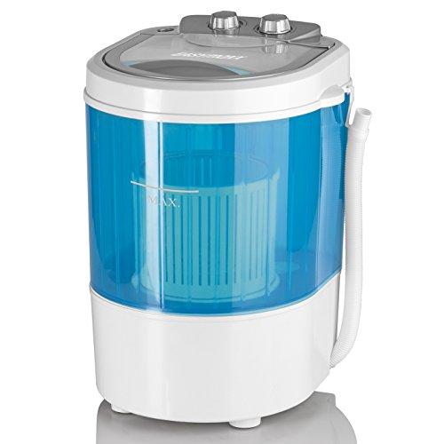 EASYmaxx Mini-Waschmaschine 260W weiß/blau ( Mit Schleudergang, Ideal zum Camping )