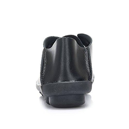 Leggera 2018 Casual Uomo Tacco Spillo in a Piatto Nero Pelle Spillo a da Sintetica Morbida Nuovo Tacco Leggera Mocassini 8xZwq0a8r