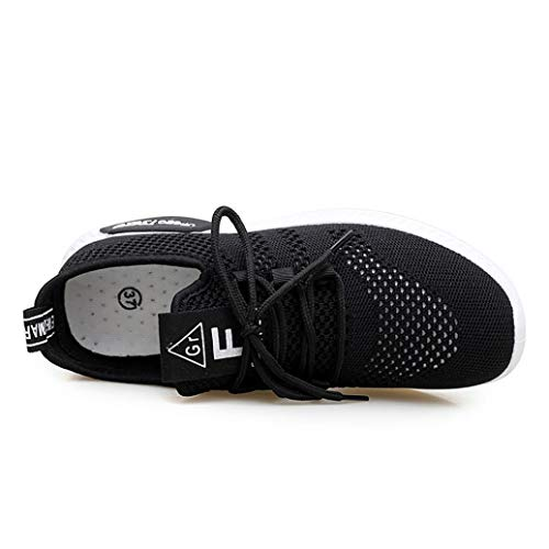 FALAIDUO Shoes Running Gym Fashion Black Women Shoes Soft Shoes Mesh Casual Loafers Breathable rr4qwB
