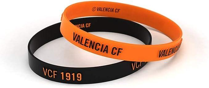 Valencia Club de Fútbol Pulsera Relieve Naranja y Negra Junior para Mujer y Niño | Pulsera Valencia de Silicona | Apoya al Valencia CF con un Producto Oficial | VCF: Amazon.es: Deportes