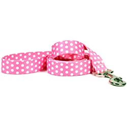 Yellow Dog Design New Pink Polka Dot Dog Leash-Size Small/Medium-3/4 Inch Wide and 5 feet (60 inches) Long