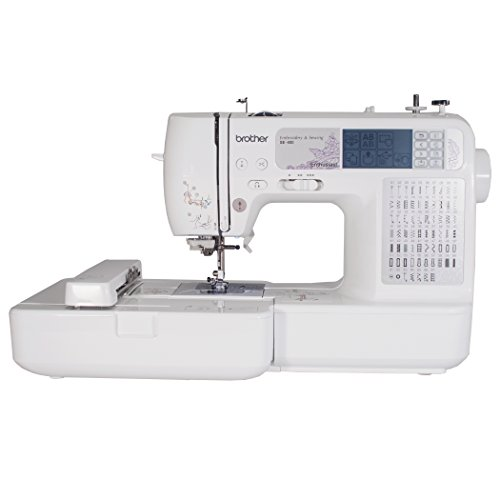 Brother SE400 Combination Computerized Sewing and 4×4 Embroidery Machine With 67 Built-in Stitches, 70 Built-in Designs, 5 Lettering Fonts