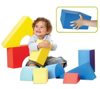 Edushape Giant Blocks, 32 Piece Foam Wooden Blocks