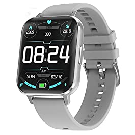 Waterpoof Smart Watch for Android iOS Phones, Full Touchscreen GPS Running Fitness Watches with Heart Rate Blood…