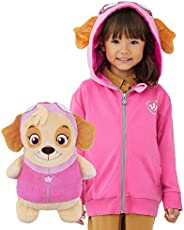 Cubcoats Skye Paw Patrol Toy Stuffed Plushie and 2-in-1 Zip-Up Kids Hoodie