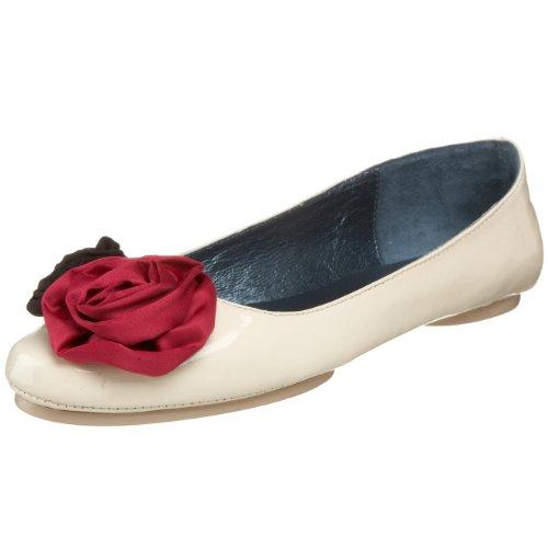 daniblack Women's Pansy Flat,Bone,8 M US Daniblack Ladies Shoes