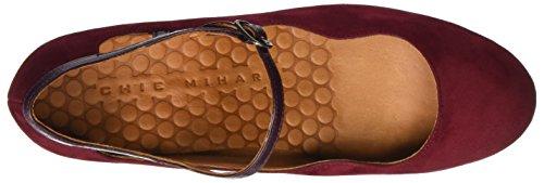 Chie Granate maitai col Scarpe Rosso Chiusa Grape Ante Granate Punta Tacco Nansta Donna grape Mihara rxrzwqHf