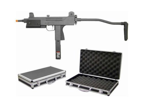 (hfc t77 full metal body semi/full auto green gas blowback gbb airsoft smg w/case(Airsoft)