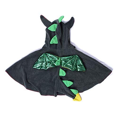 Wraith of East Boys Green Pteranodon Cape Dinosaur Cloaks Wingspan Kids Halloween Costumes Hooded L