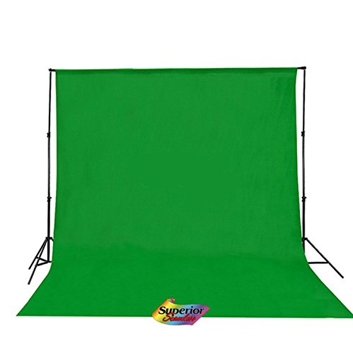 Superior Seamless 73 x 118 Inches Photo Studio Muslin Collapsible Backdrop Background for Photography and Video -GREEN (150001)