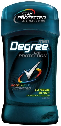Degree Men Anti-Perspirant Deodorant Invisible Stick, Extreme Blast 2.70 oz ( Pack of 6) - Invisible Solid Extreme Blast