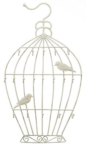 Metal Bird Cage Design Keyring and Lanyard Holder - By Ganz