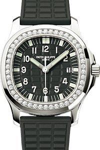 Patek Philippe Ladies Aquanaut 35mm Stainless Steel Watch on Rubber Strap 5067A-001 - Patek Philippe Ladies
