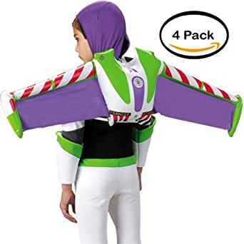 PACK OF 4 - Halloween Adult Buzz Lightyear Jet Pack