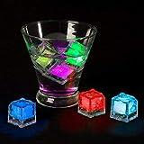 Lavish Home LED Ice Cube Shape Lights Liquid