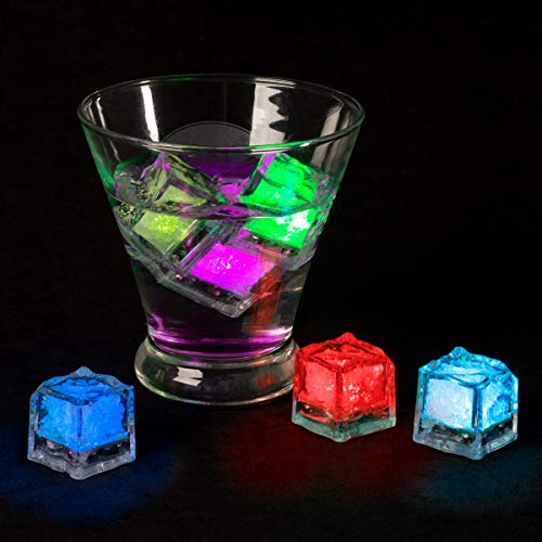 Glowing Ice Cubes - Lavish Home LED Ice Cube Shape